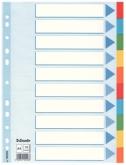 Индекс-разделитель Esselte, А4, 10 разделов, картон, полупрозрачный