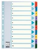 Индекс-разделитель Esselte Mylar, А4, 10 разделов, картон полупрозрачный