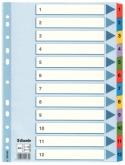 Индекс-разделитель Esselte Mylar, А4, 12 разделов, картон, полупрозрачный