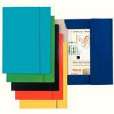 Папка картонная А4 на резинках, голубая