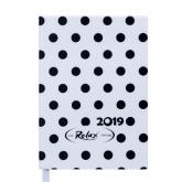 Ежедневник датированный 2019 Buromax Design RELAX, белый, А6