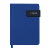 Ежедневник датированный 2019 Buromax Classic WINSDOR, синий, А6