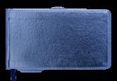 Еженедельник датированный 2019 Buromax Карманный METALLIC, синий, 9.5х17 см