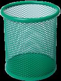 Подставка для ручек металлическая круглая Buromax, зеленая