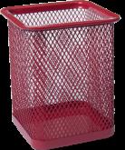 Подставка для ручек металлическая квадратная Buromax, красная