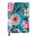 Ежедневник датированный 2019 Buromax Design CHERIE, бирюзовый, А6 - №1