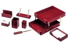 Набор настольный для руководителя BESTAR 8280WDM, 8 предметов, красное дерево