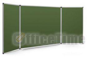 Доска для мела трехстворчатая UkrBoards 120х400 см