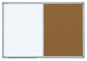 Доска комбинированная магнитно-маркерная/пробковая 2х3 ALU23  90x120 см
