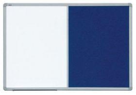 Доска комбинированная магнитно-маркерная/текстильная 2х3 ALU23  90x120 см