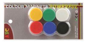 Набор магнитов, диам. - 25 мм, 6 шт., блистер