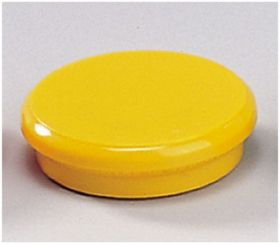 Магниты 24мм, желтые, 6шт