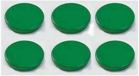 Магниты 24мм, зеленые, 6шт