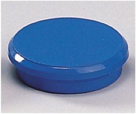 Магниты 24мм, синие, 6шт