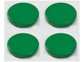 Магниты 32мм, зеленые, 4шт