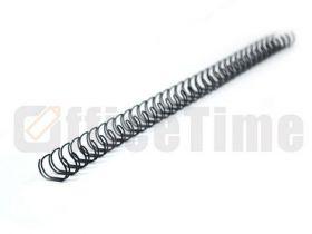 Металлическая пружина А4 11 мм 3:1, черная, 100  шт BD