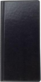 Визитница с впаянными файлами Buromax, 96 визиток, винил, черная