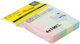 Закладки бумажные 51x12мм, 4х100л., ассорти