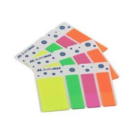 Закладки пластиковые с клейким слоем NEON 45x25мм+45x12мм, 3х40л., ассорти