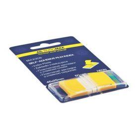 Закладки з клейким слоем POP-UP NEON, пластиковые, 45x25мм, 50 л., желтый