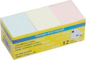 Блок бумаги для записей 38х51 мм, 100л., ассорти