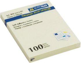 Блок бумаги для записей 76x127 мм, 100л., желтый