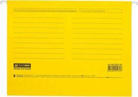 Файл подвесной  А4 с индексами, картон, желтый