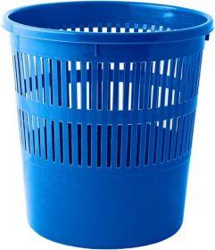 Корзина для бумаг с прорезями 8 л, синяя