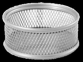 Подставка для скрепок металлическая Buromax, серебро