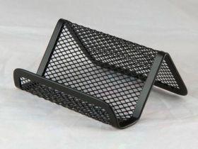 Подставка для визиток металлическая Buromax, черная