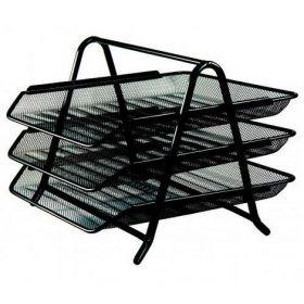 Лоток для бумаг 3 в 1, 350x295x270мм, металлический, черный