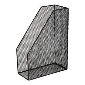 Лоток для бумаг вертикальный 80x230x300мм, металлический, черный