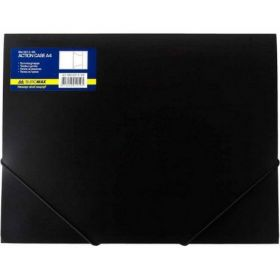 Папка на резинках Buromax А4, 550 мкм, черная