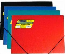 Папка на резинках Buromax А4, 550 мкм, зелёная