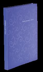 Папка со скоросшивателем Buromax BAROCCO А4, 600 мкм, фиолетовая