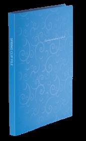 Папка со скоросшивателем Buromax BAROCCO А4, 600 мкм, голубая