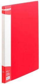 Папка с 20 файлами Buromax А4, красная