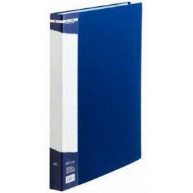 Папка с 40 файлами Buromax А4, синяя