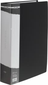 Папка с 100 файлами Buromax А4, черная