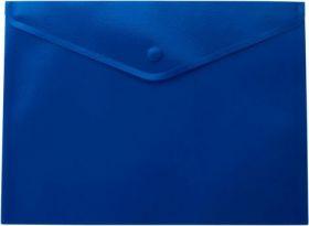 Папка-конверт на кнопке Buromax А4, 170 мкм, синяя