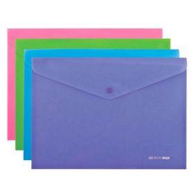 Папка-конверт на кнопке Buromax BAROCCO А4, 180 мкм, ассорти