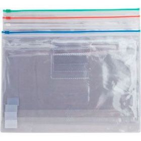 Папка-конверт на молнии Buromax А4, 160 мкм, синяя