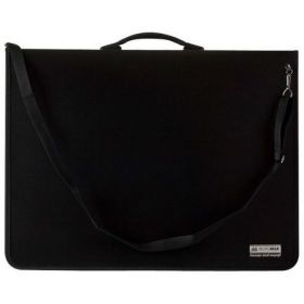 Пластиковый портфель для чертежей с 9 кольцами Buromax PROFESSIONAL А1, 1 отделение, черный (распродажа)