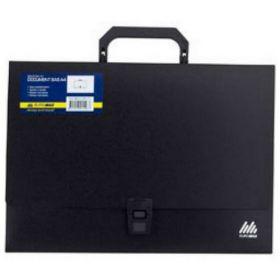 Пластиковый портфель Buromax JOBMAX А4, 1 отделение, черный