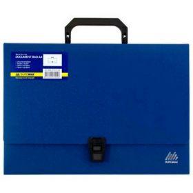 Пластиковый портфель Buromax JOBMAX А4, 1 отделение, синий