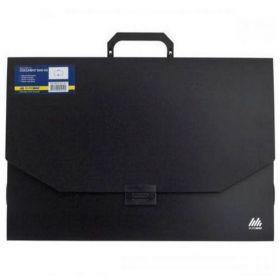 Пластиковый портфель Buromax PROFESSIONAL А3, 1 отделение, черный