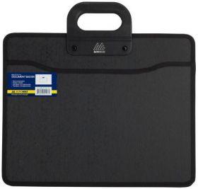 Пластиковый портфель Buromax В4, 2 отделения, черный