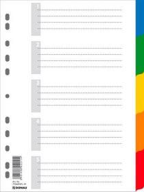 Индекс-разделитель цифровой А4, цветной, с листом описи