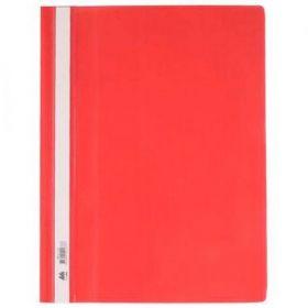 Скоросшиватель Buromax А4, PP, красный