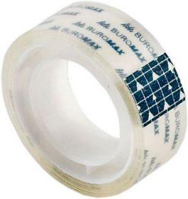 Скотч канцелярский Buromax 15 мм х 10 м, прозрачный, 10 шт